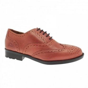 Brogue Style Punch Hole Lace Up Shoes
