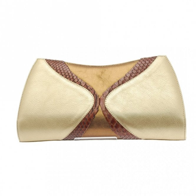 Magrit Bronze Brown Skin Clutch
