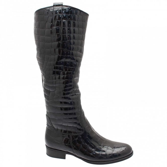 Gabor Brook Croc Quilted Long Boot