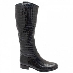 Brook Croc Quilted Long Boot