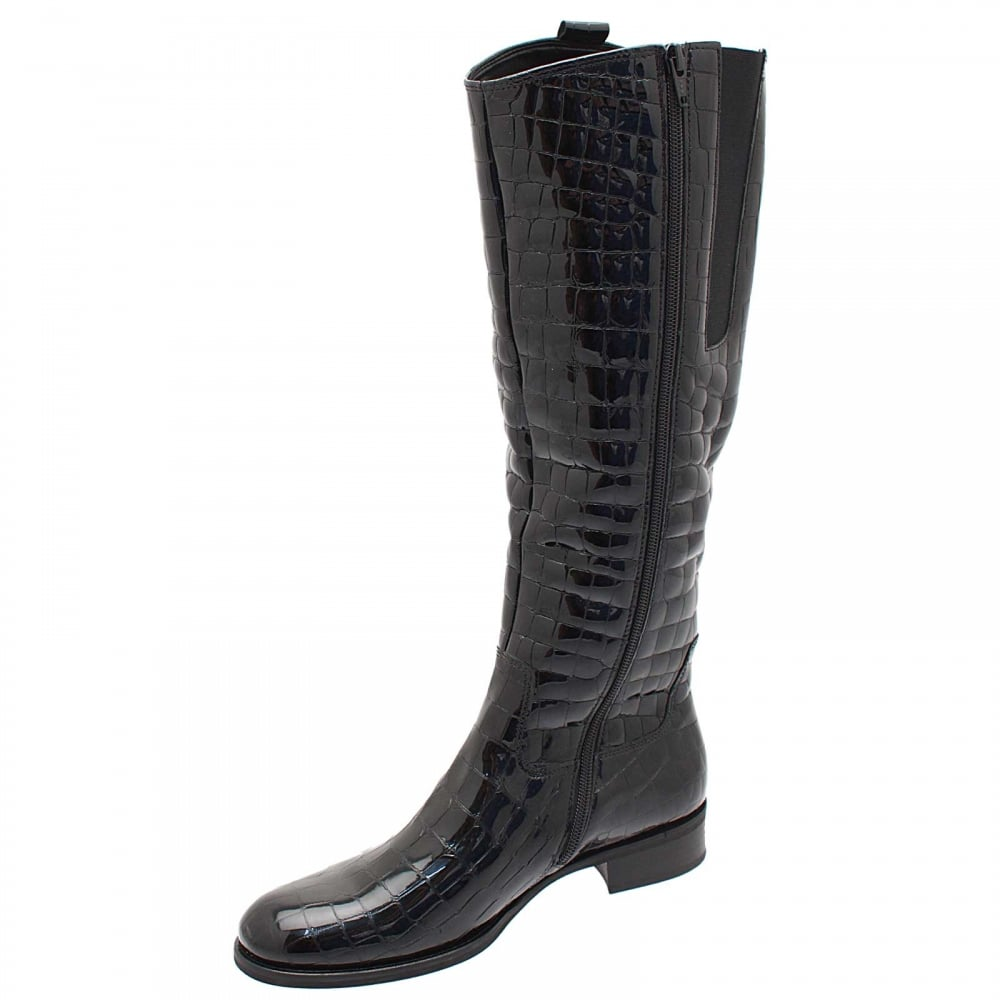 e3aff23d1c7 Brook Croc Quilted Long Boot