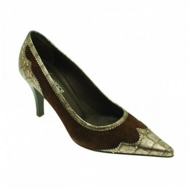 Lorbac Browm Suede With Grey/silver Met