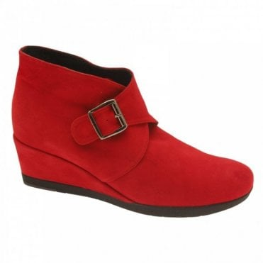 Buckle Across Flat Ankle Boot