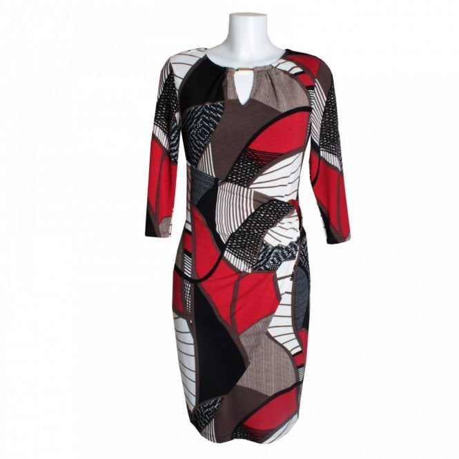 Frank Lyman Buckle Multi Print Dress