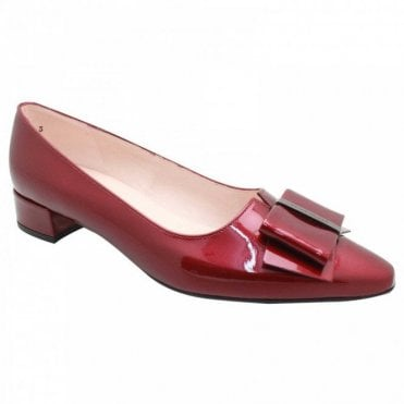 Peter Kaiser Burgandy Patent Low Heel Court Shoes