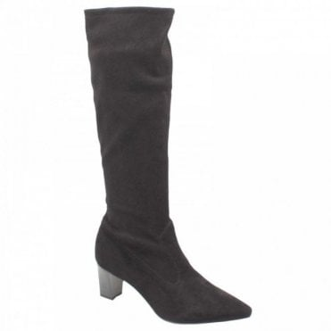 Peter Kaiser Calf High Block Heel Suede Leather Boots