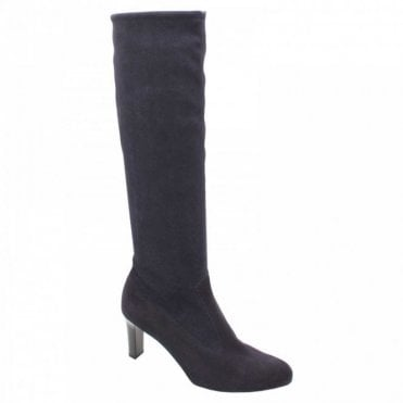 Peter Kaiser Calf High Navy Suede High Heel Boots
