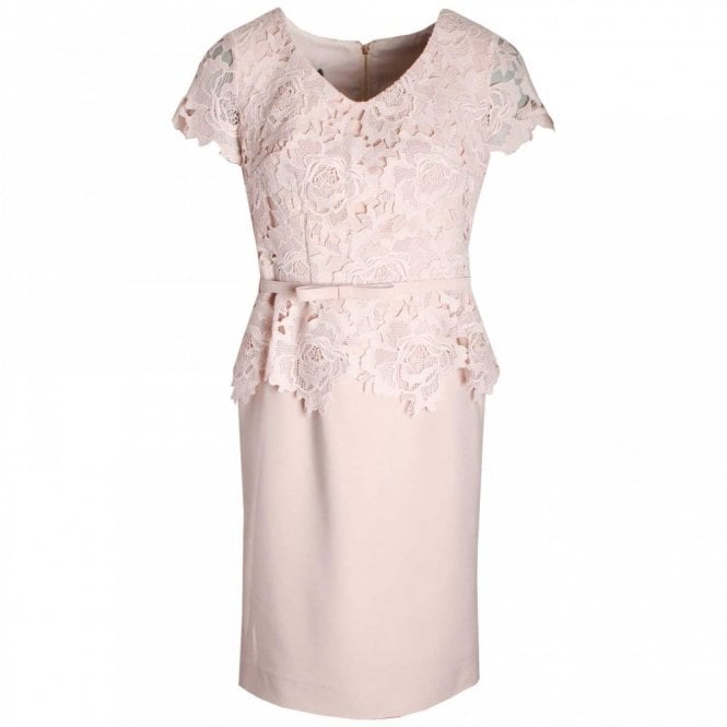 Badoo Capped Sleeve Lace Bodice Dress