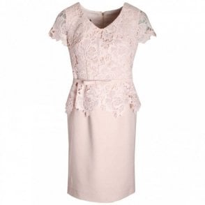 Capped Sleeve Lace Bodice Dress
