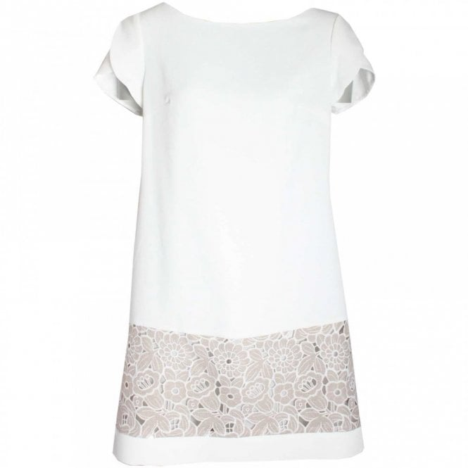 Badoo Capped Sleeve Lace Detail Shift Dress