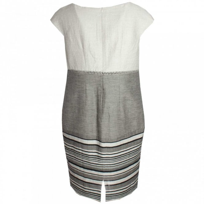 Capped Sleeve Linen Shift Dress By Badoo At Walk In Style