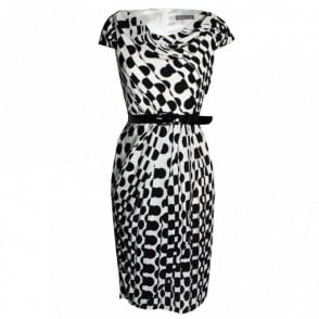 Michaela Louisa Capped Sleeve Spotted Dress With Belt