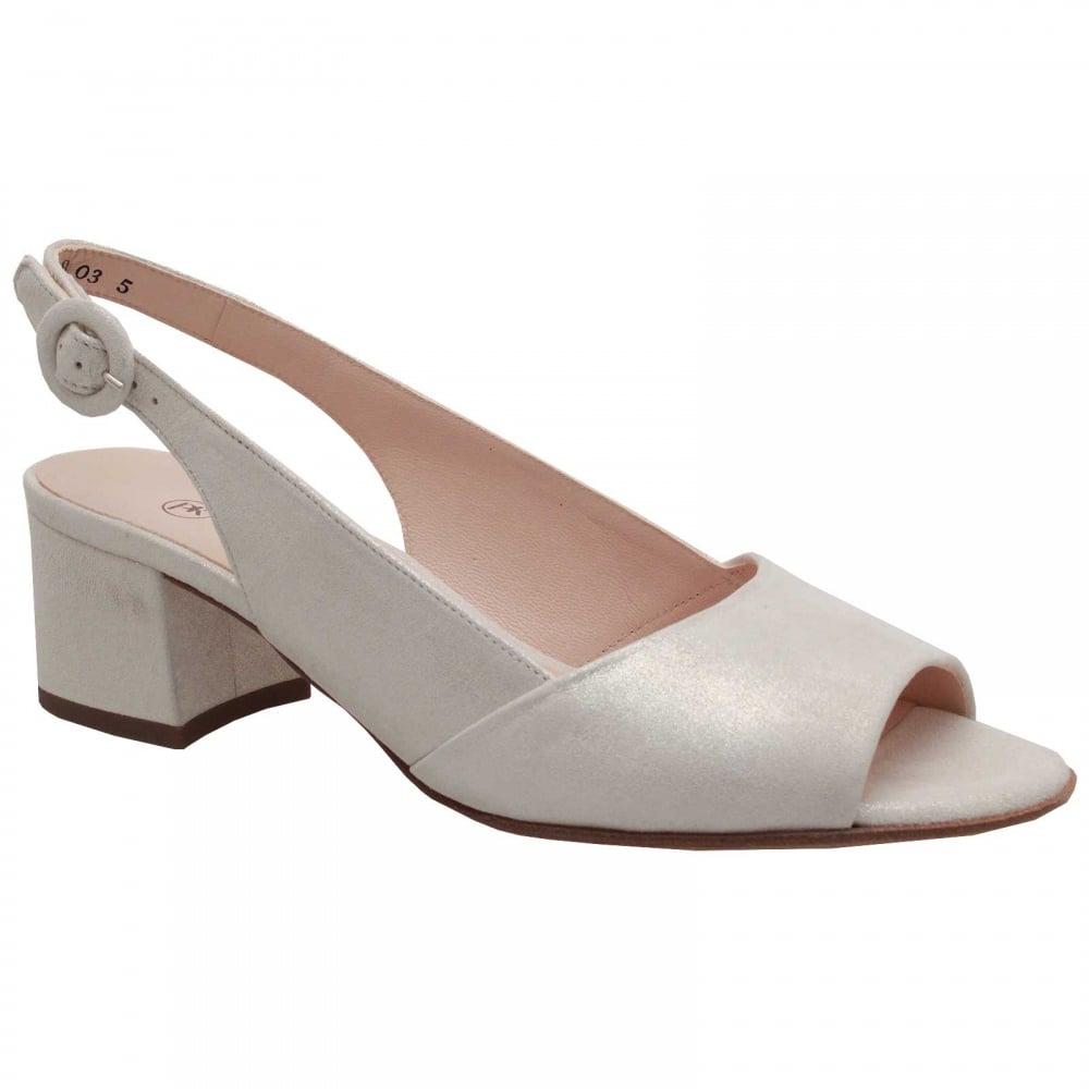 white peep toe low heel shoes uk