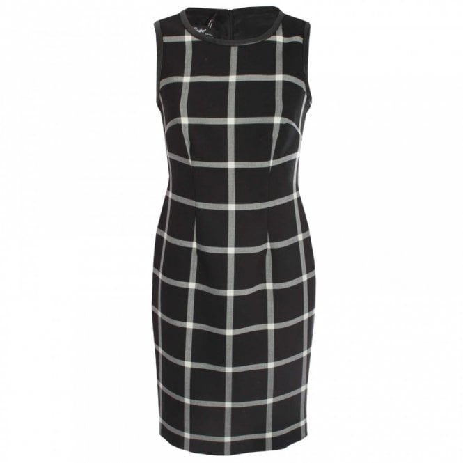 Badoo Check Sleeveless Shift Dress