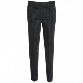 Checked Narrow Leg Trousers