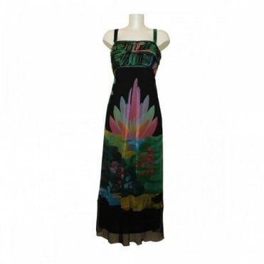 Vivi Chiffon Leaf Prt Dress