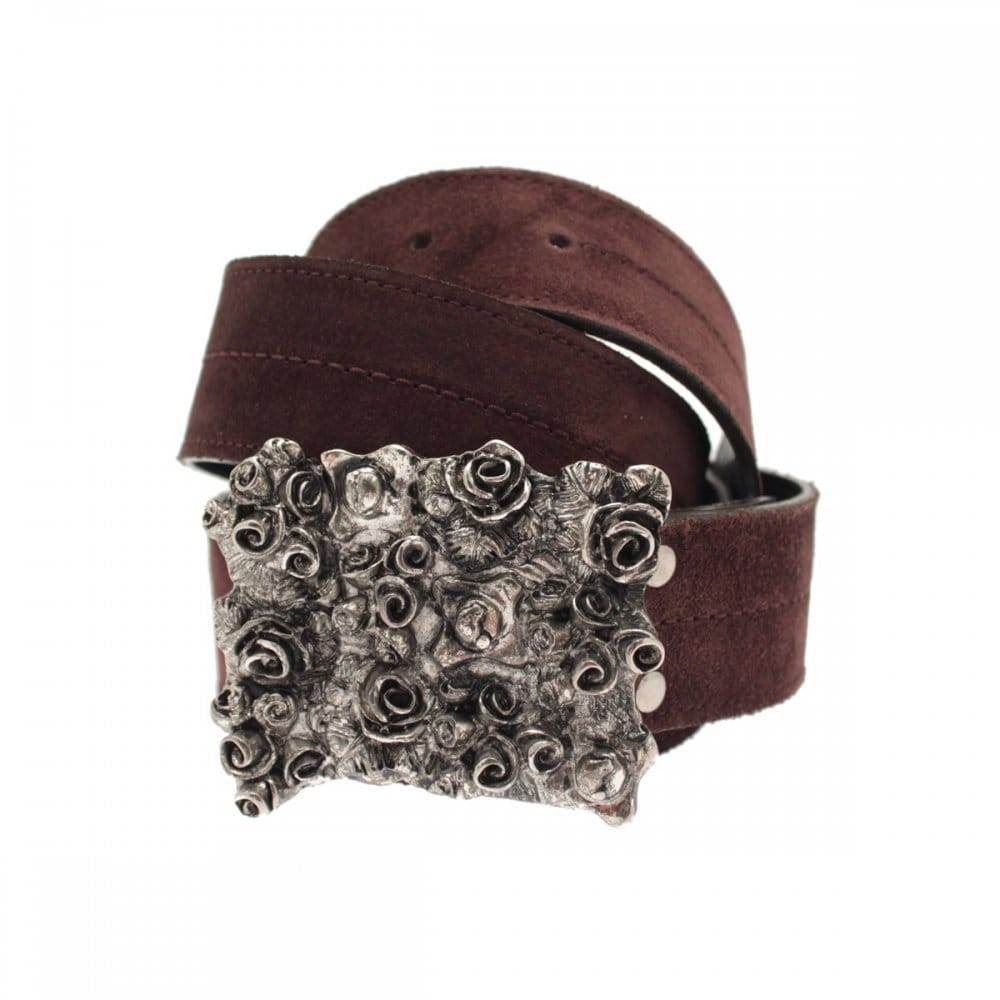 1c5fa1ce550 Lisa Kay Chocolate Suede Belt B/silver Buckle - Accessories from ...