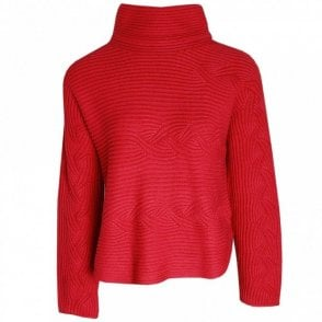 Oui Chunky Knit Polo Jumper