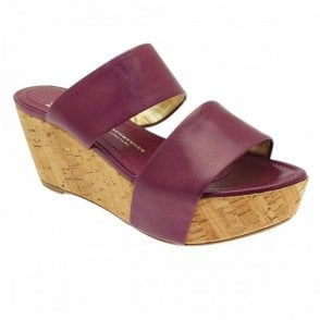 Chunky Two Strap Wedge Platform Shoe