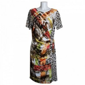 Frank Walder City Jungle Short Sleeve Dress
