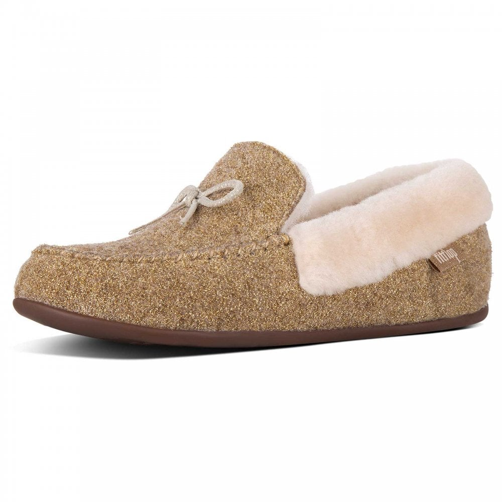 728ee9d4a56e Clara™ Glimmerwool Moccasin Slippers By Fitflop At Walk In Style