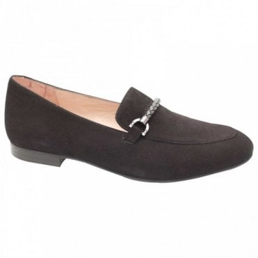 Classic Black Suede Moccasin Shoes