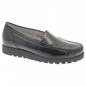 Classic Flat Patent Moccasin