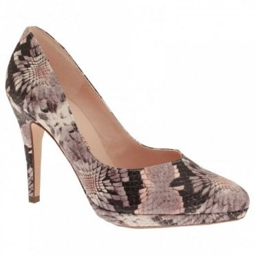 Classic High Heel Platform Court Shoe