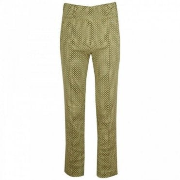 Classic Legged Bold Patterned Trousers