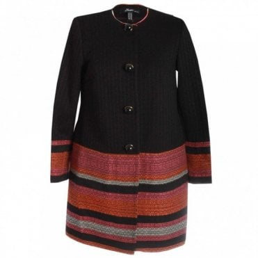 Classic Long Sleeve Button Combi Coat