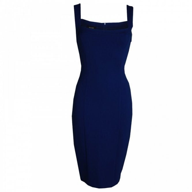 Isabel De Pedro Classic Strap Pencil Dress