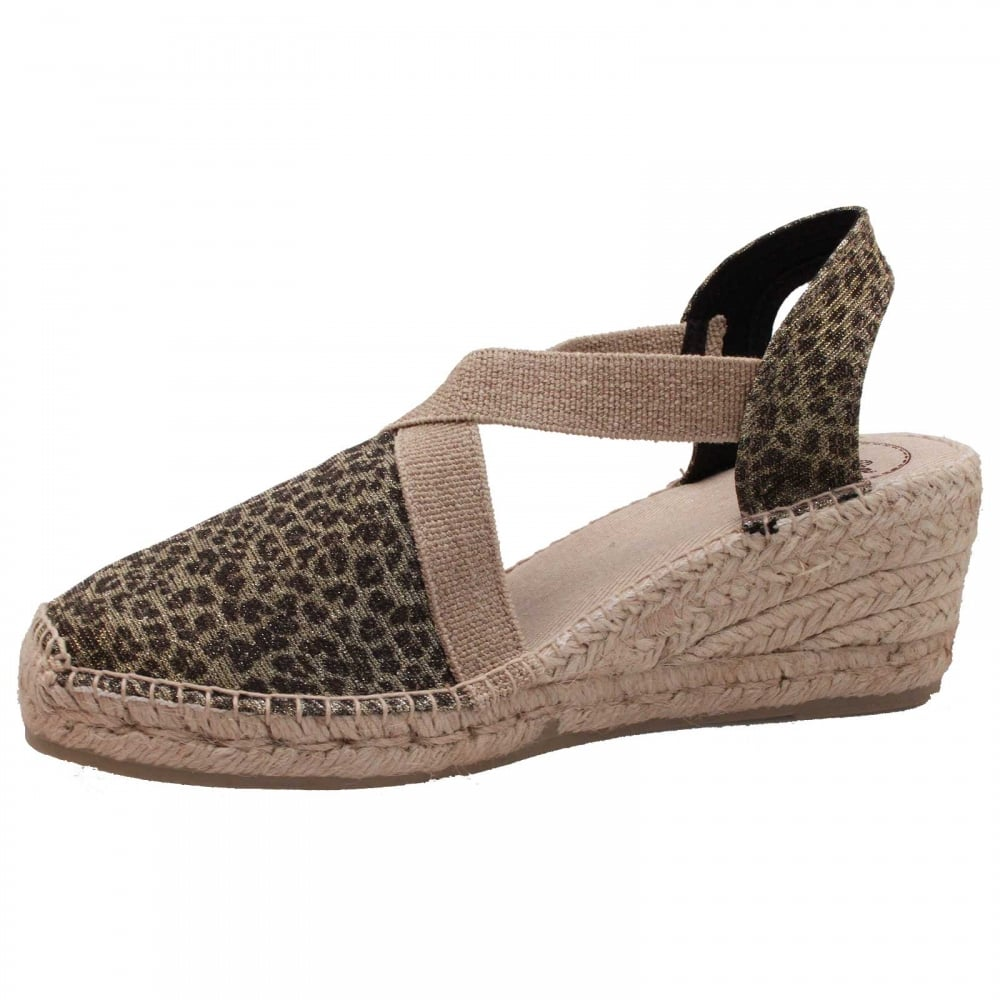 Closed Toe Espadrille Wedge Sandal By