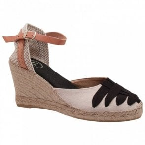 Closed Toeankle Strap Espadrille Wedge