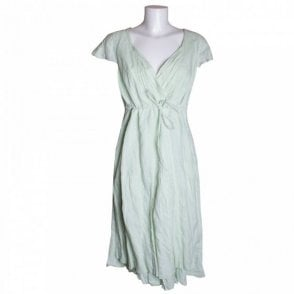 Cotton Dress With Drawstring Waist