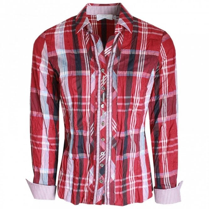 Just White Cotton Long Sleeve Plaid Check Shirt