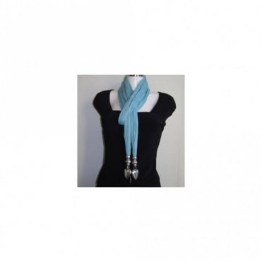 Cotton Scarf With Heart Edge Feature