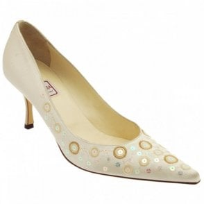 Court Shoe With Sequin Detail