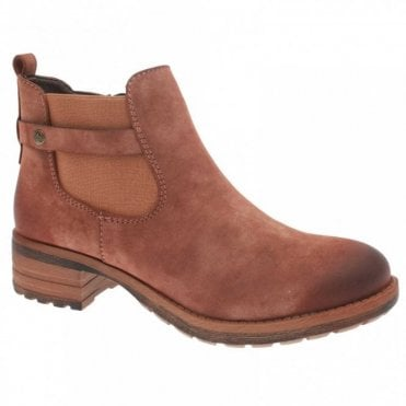Cowboy Style Fleece Lined Ankle Boot