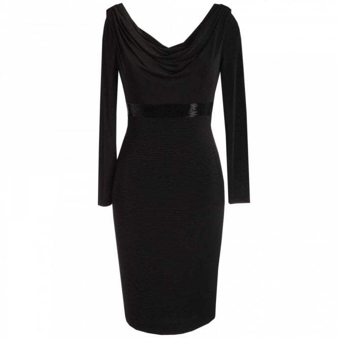Dress Code By Veromia Cowl Neck Jersey Dress With Beads