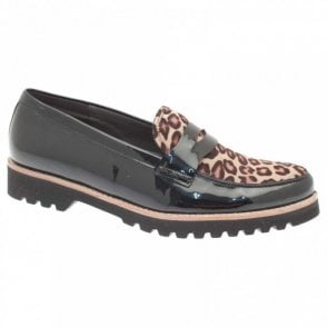 Coy Creap Sole Lepoard Top Mocassin