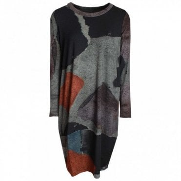 Long Sleeve Jersey Printed Dress