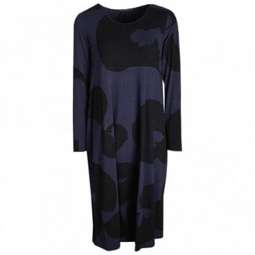 Long Sleeve Printed Jersey Dress
