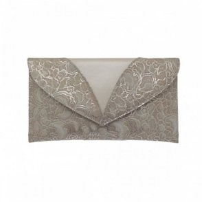 Cream/cream Pattern Envelope Clutch