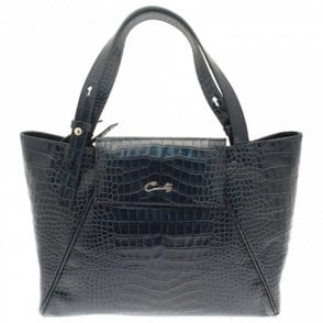 Croc Effect Grab Handbag