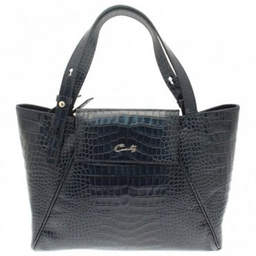 Cats Croc Effect Grab Handbag
