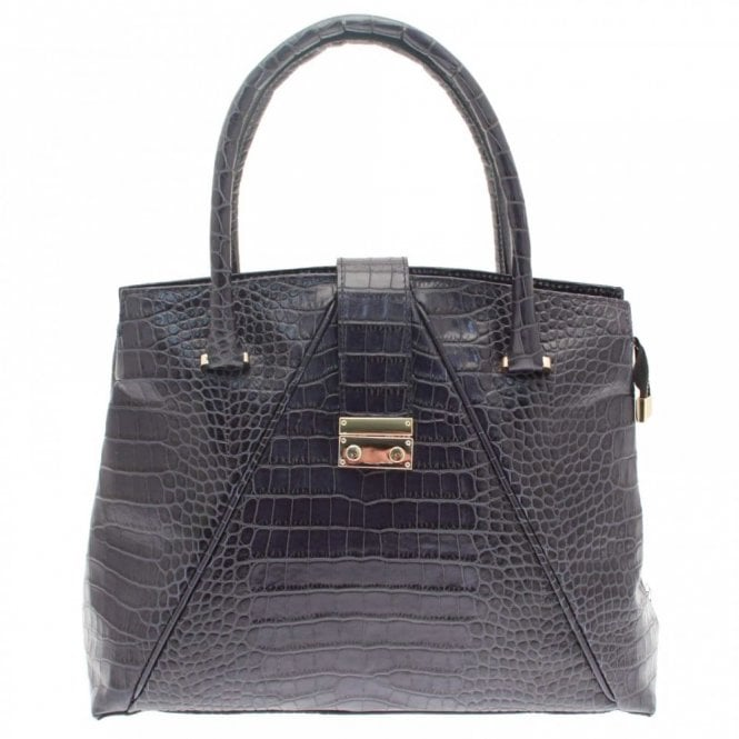 Cats Croc Effect Shoulder Handbag