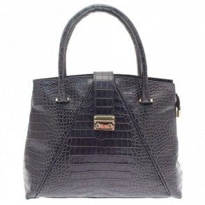 Croc Effect Shoulder Handbag