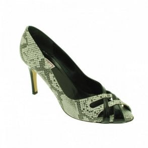 Cross Over Peep Toe High Heel Court Shoe