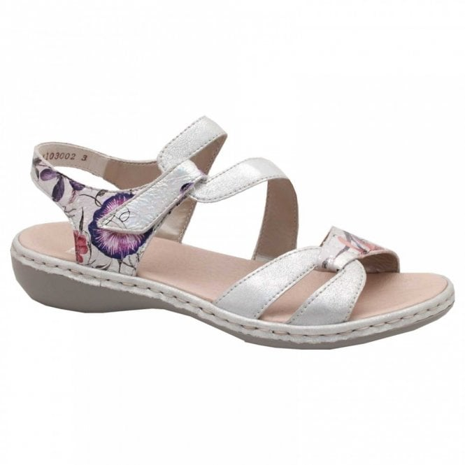 Rieker Cross Over Strap Flat Sandal