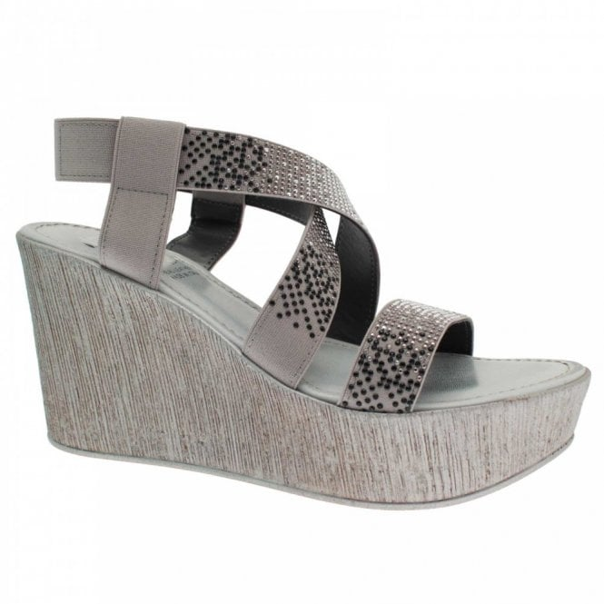 Lisa Kay Cross Over Strap Wedge